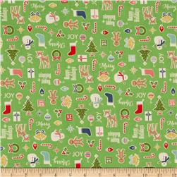 Riley Blake Cozy Christmas Main Green
