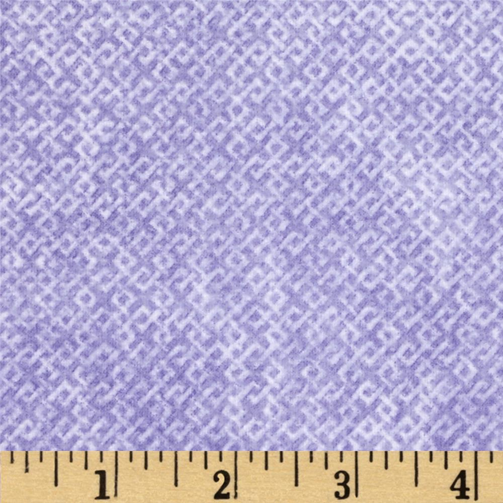 Criss Cross Flannel Purple