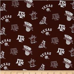 Collegiate Cotton Broadcloth Texas A&M Maroon