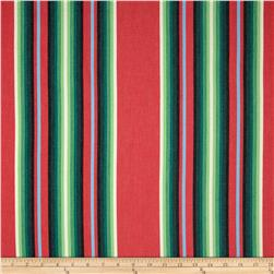 Kaufman Serape Stripes Deluxe Cotton Red