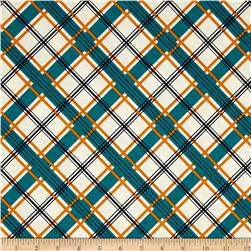 Riley Blake Keep On Groovin' Plaid Cream