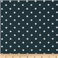 Premier Prints Mini Dot Twill Gunmetal/White