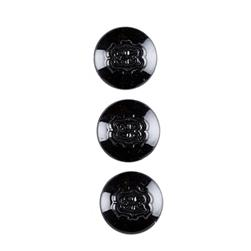 "Metal Button 3/4"" Vendome Black"