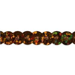 6mm Slung String Sequin Trim Roll Brown
