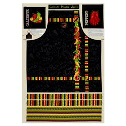 "Caliente Peppers Apron 29.5"" Panel"