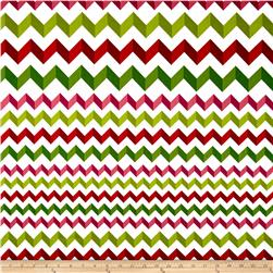 Crinkle Stripe White/Red/Green Fabric