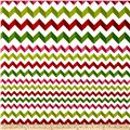 Crinkle Stripe White/Red/Green