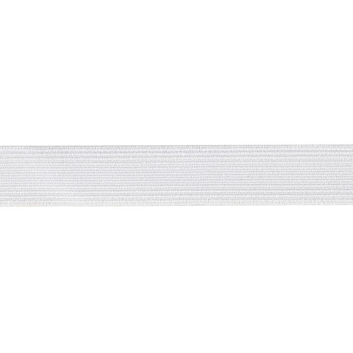 "3/4"" Braided Elastic White - By the Yard"