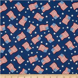 Stars & Stripes II Tossed Flags & Stars