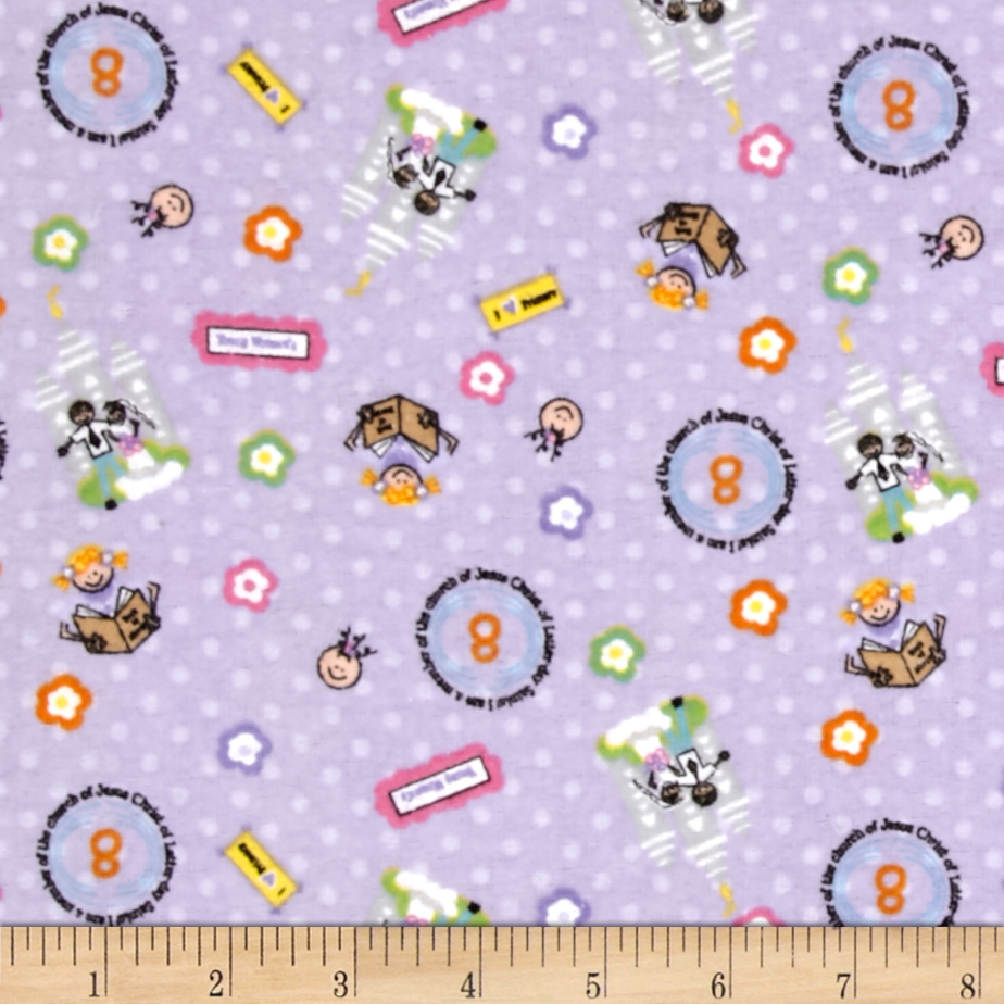 Alpine Flannel A Girls Life Lilac Fabric by Christensen in USA