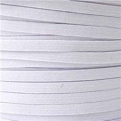 1/4'' Braided Elastic BY THE YARD White
