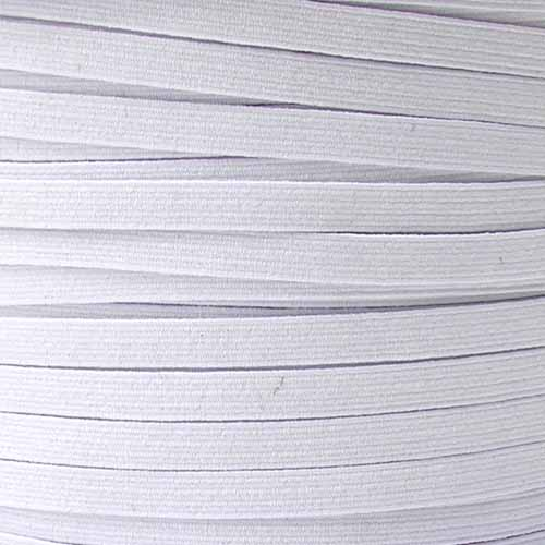 1/4'' Braided Elastic BY THE YARD White Fabric