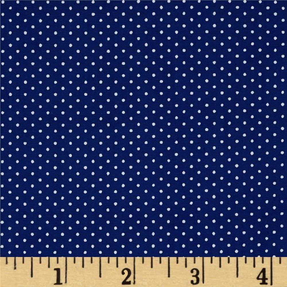 Kaufman Sevenberry Petite Basics Mini Dot Denim