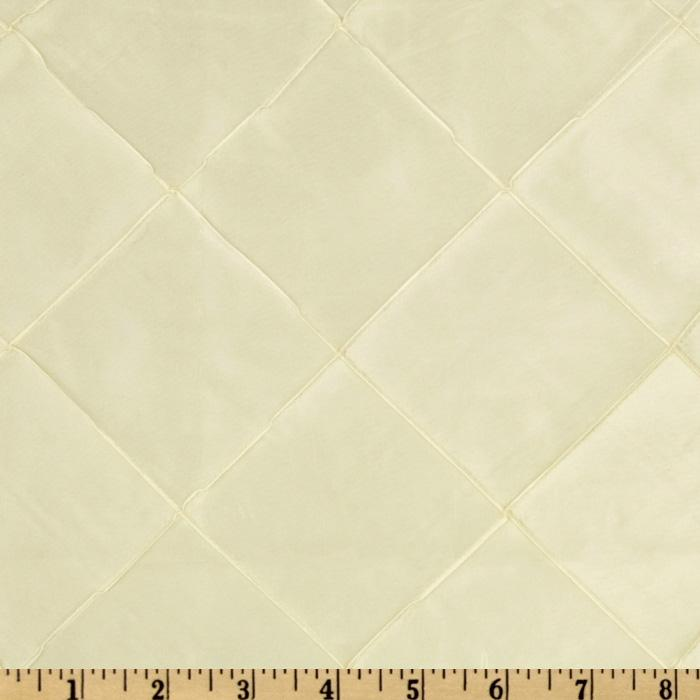 6'' Diamond Pintuck Taffetta Ivory