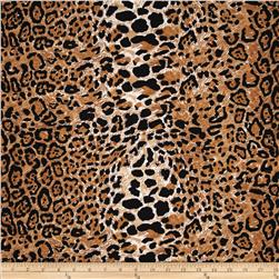 Soft Jersey Knit Animal Cheetah Gold/Brown