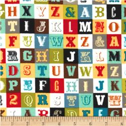 Riley Blake Flannel Sasparilla Alphabet Multi