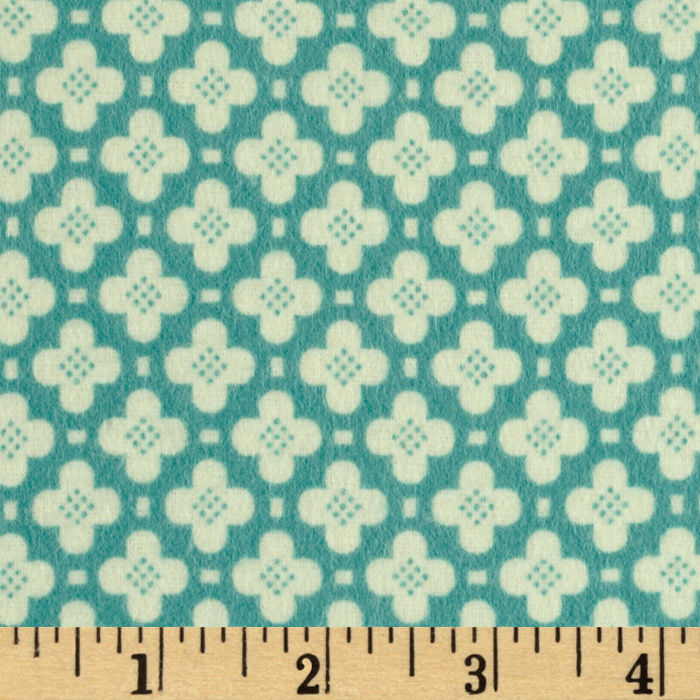 Riley Blake Sidewalks Flannel Hopscotch Blue Fabric