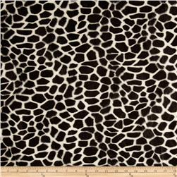 Velboa Faux Fur Giraffe Ivory/Black Fabric