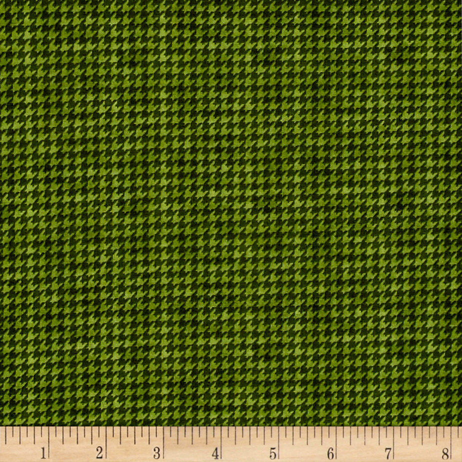 McAnderson's Farm Houndstooth Green Fabric by Henry Glass in USA