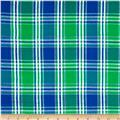 Seersucker Large Plaid Blue/Green/White
