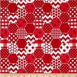 Riley Blake Hexi Print Red