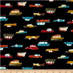 Seven Islands Classic Cars Canvas Black