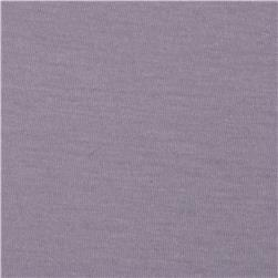 Soft Jersey Knit Solid Slate Purple