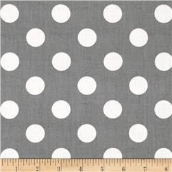 "Riley Blake 108"" Wide Medium Dots Grey"