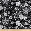 Ink Blossom Contempo Floral Black