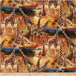 Animal Adventure Giraffes in Savannah Multi