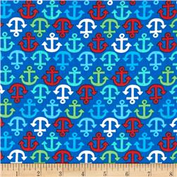 Timeless Treasures Anchors Blue