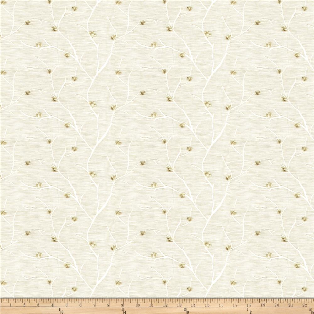 Fabricut Norroway Embroidered Sheer Ivory