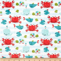 Minky Cuddle Classic Kids Go Fish Snow Fabric