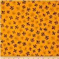 Fleur De Lis Purple on Yellow