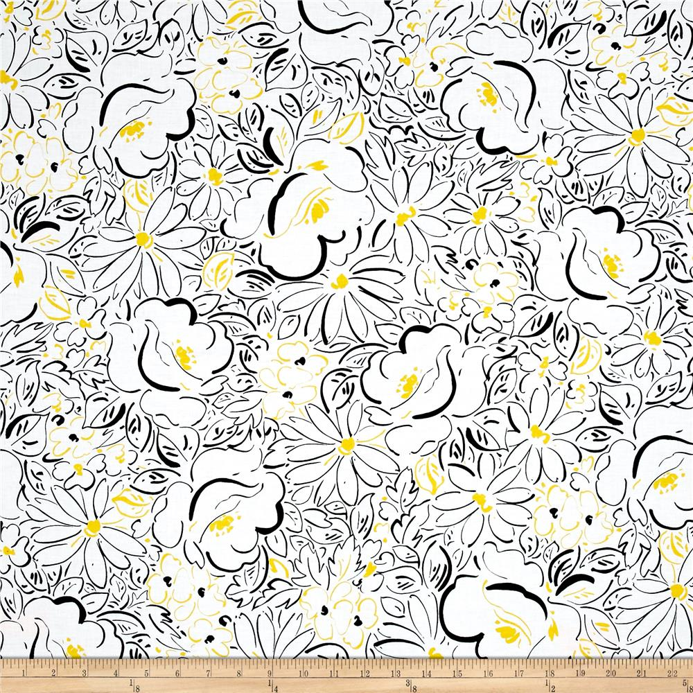 Fiona Floral White