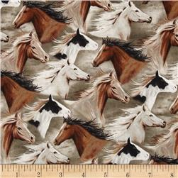 Running Wild Packed Horses Tan