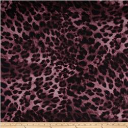 Embellished Stretch ITY Jersey Knit  Animal Print Purple