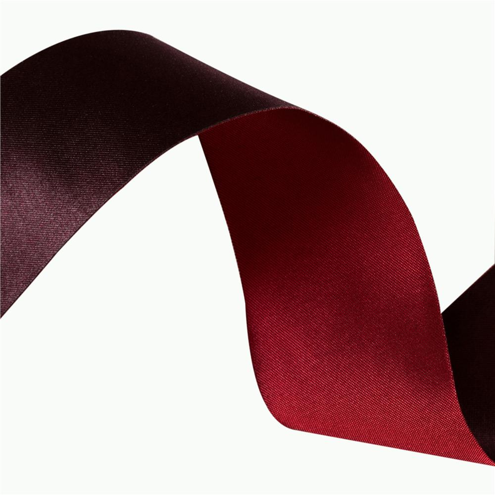1 1/2'' Iridescent Satin Ribbon Burgundy/Red