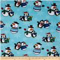 Minky Cuddle Penguins Multi