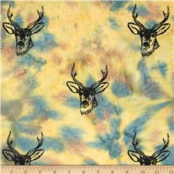 Indian Batik Animal Planet Stag Natural
