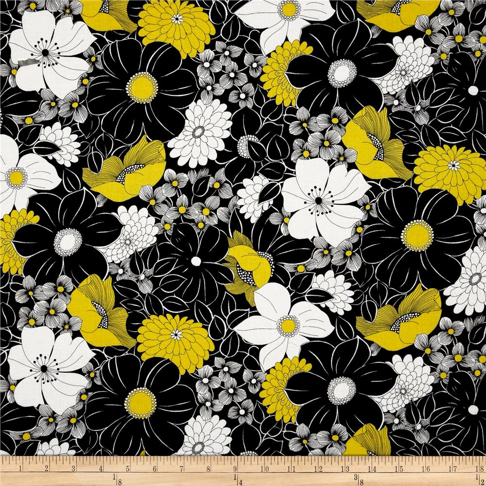 Sunburst Contempo Floral Black