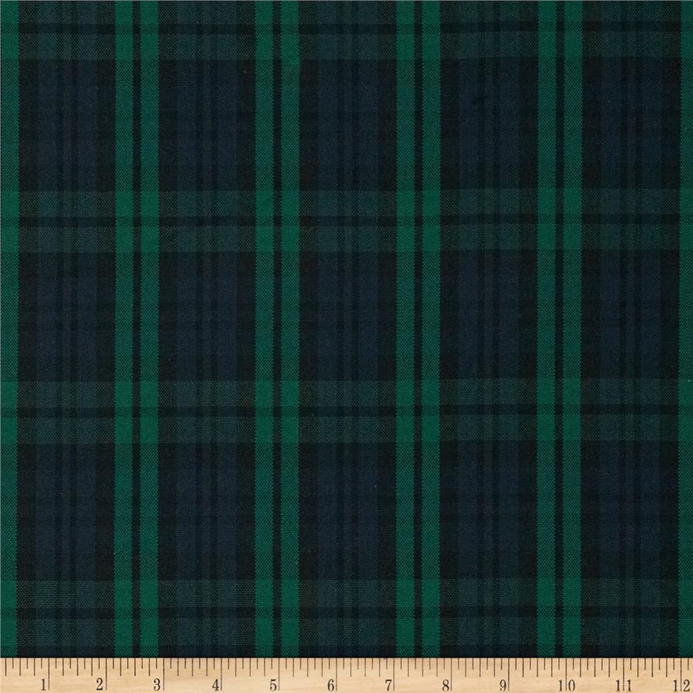 Polyester Uniform Plaid Black/Green/Navy
