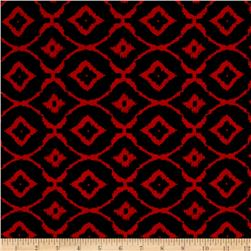 Jersey Knit Round Diamond Red