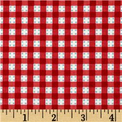 Anna Griffin Gladys Gingham Dot Red