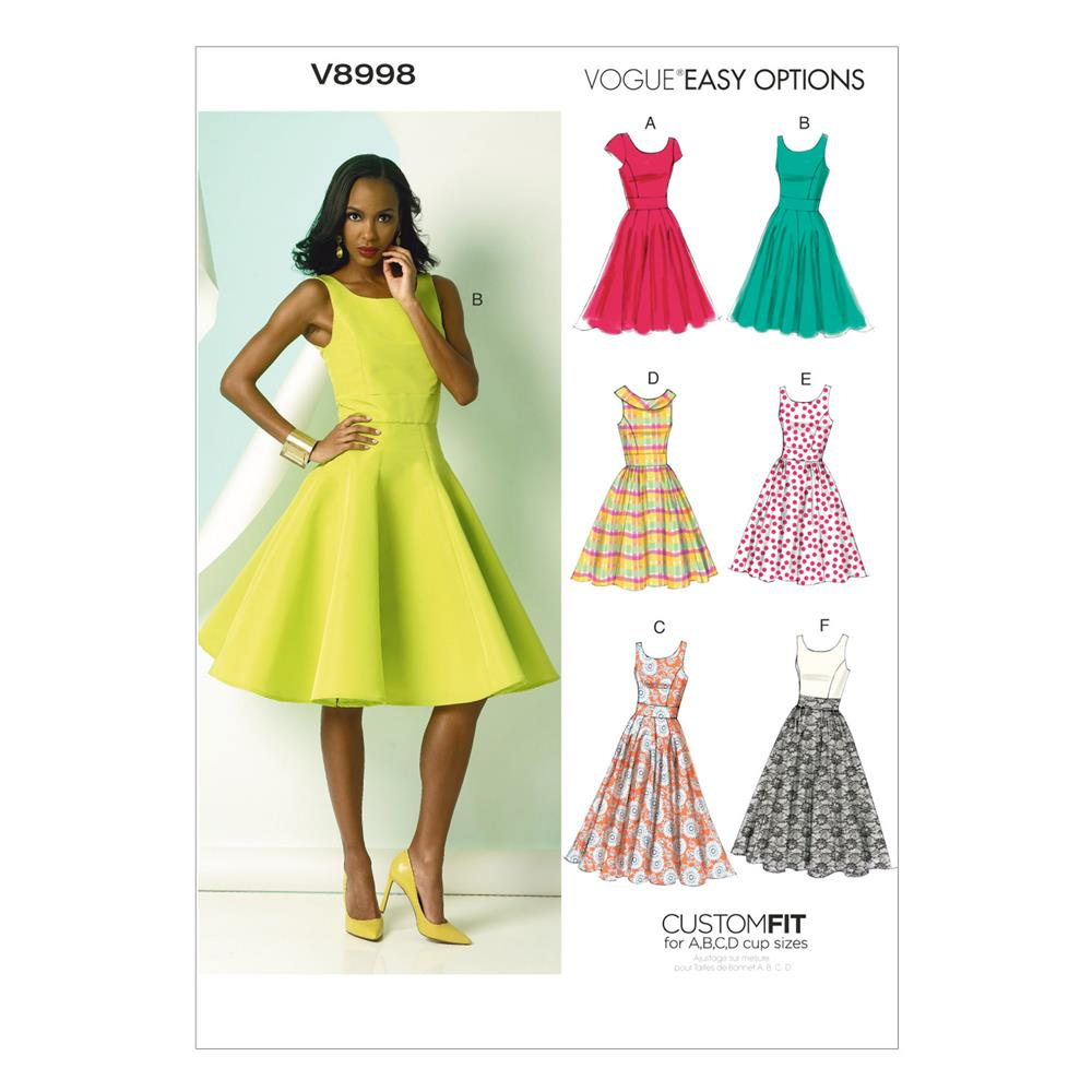 Vogue Misses' Dress Pattern V8998 Size A5
