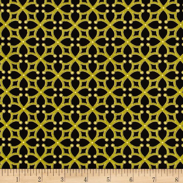 Kanvas Forever Sunflowers Metallic Cross Lattice Black/Green