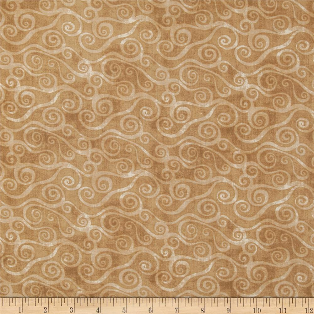 Essentials Swirly Scroll Light Brown
