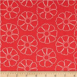 Hazel Stencil Flower Red
