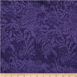 Island Batik In the Summertime Turtle Purple