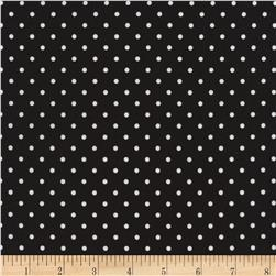 Timeless Treasures Polka Dots Black